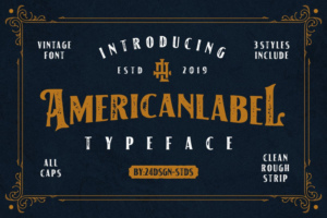American Label Vintage Font Free Download [Direct Link]