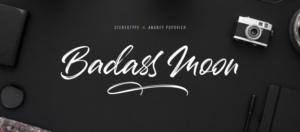 Badass Moon Brush Font Free Download [Direct Link]