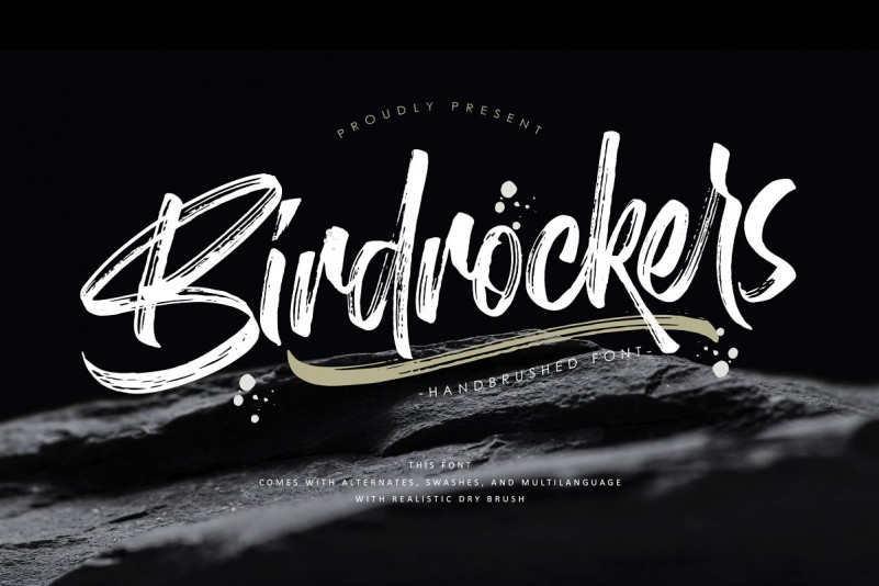 Birdrockers Brush Font Free Download [Direct Link]