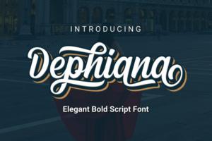 Dephiana Bold Script Font Free Download [Direct Link]