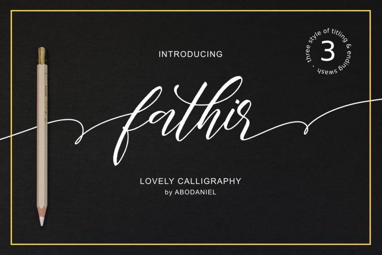 Fathir Script Font Free Download [Direct Link]