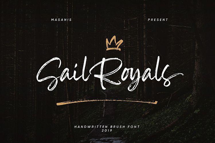 Sail Royals Brush Font free download