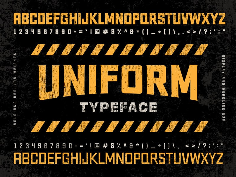 Uniform Typeface Free Download [Direct Link]
