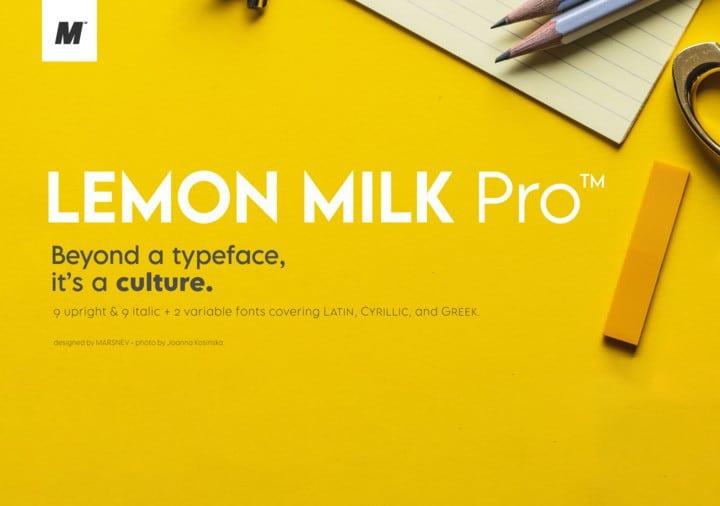 lemon milk font free download
