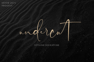 Undercut Signature Font Free Download [Direct Link]