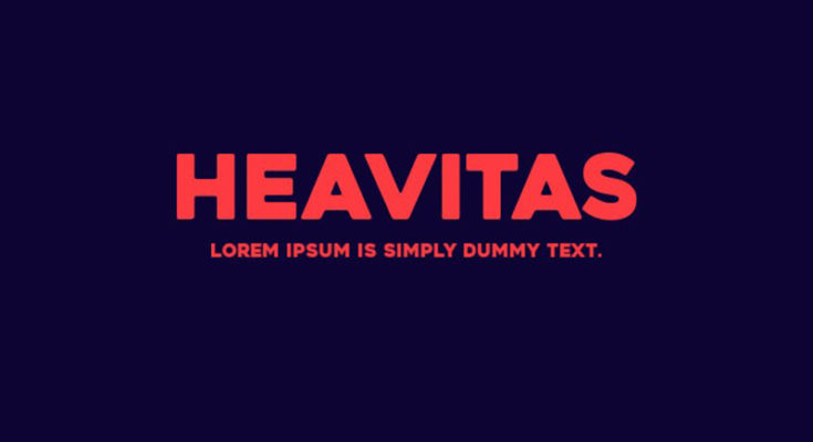 Heavitas-free font