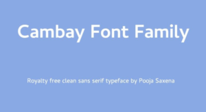 Cambay Font Free Download [Direct Link]