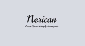 Norican Font Free Download [Direct Link]
