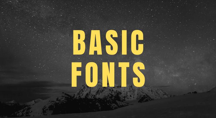 best basic font list