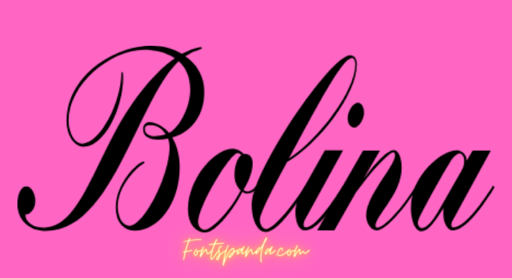 Bolina Font Free Download [Direct Link]