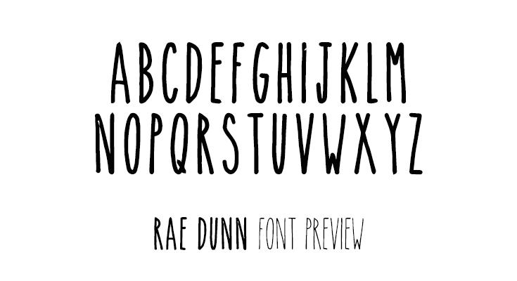 rae dunn font preview