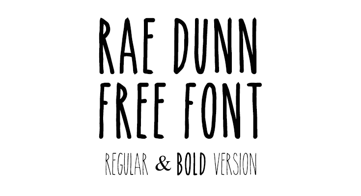 Rae Dunn Font Free Download [Direct Link]