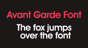 Avantgarde Font Free Download [Direct Link]