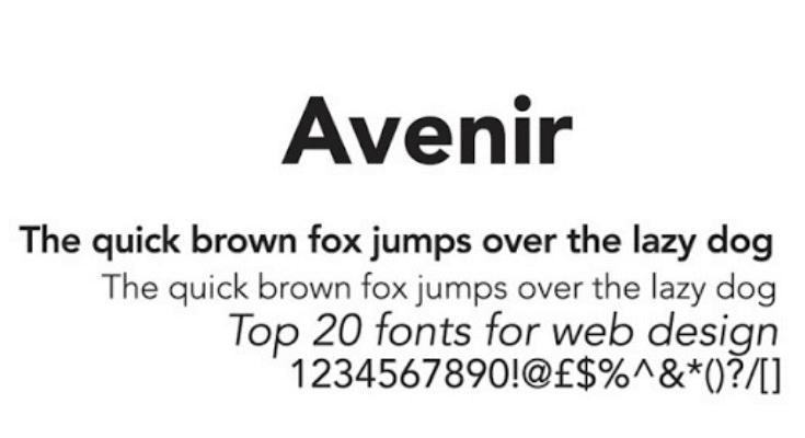 Avenir Font Preview