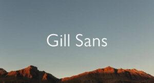 Gill Sans Font Free Download [Direct Link]