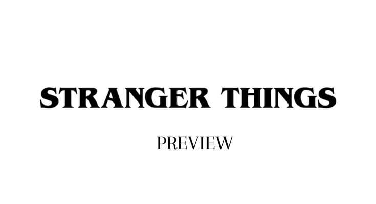 stranger things font preview