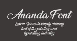 Ananda Font Free Download [Direct Link]