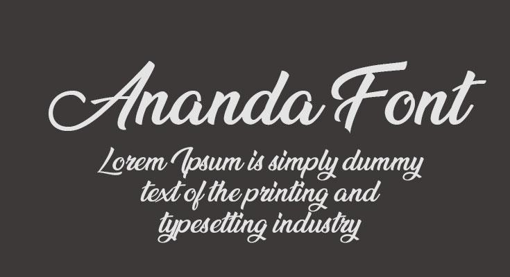 Ananda Font Free Download [Direct Link]