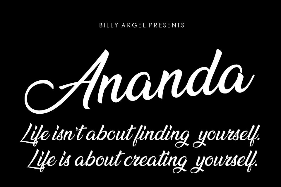 Ananda free font