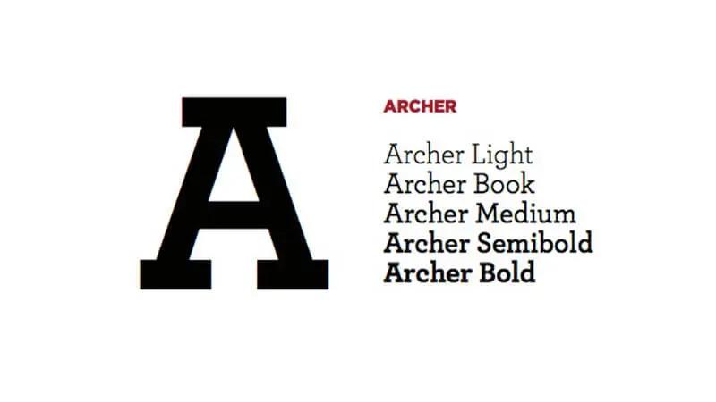 Archer Font free