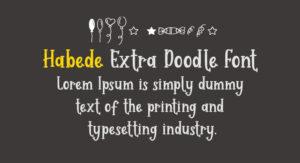 Habede Extra Doodle Font Free Download