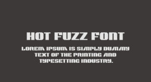 Hot Fuzz Movie Font Free Download [Direct Download]
