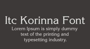 Itc Korinna Font Family Free Download