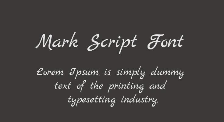 Mark Script Font Free Download