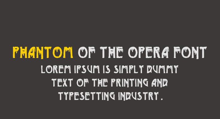 Phantom of the Opera Font Free Download