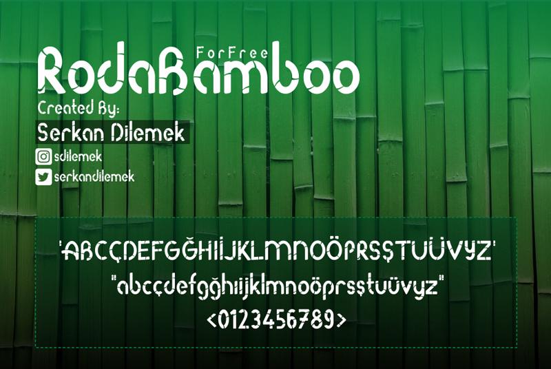 roda bamboo font preview