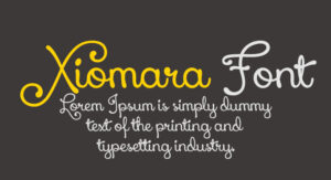 Xiomara Font Free Download [Direct Link]