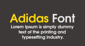 Adidas Font Free Download