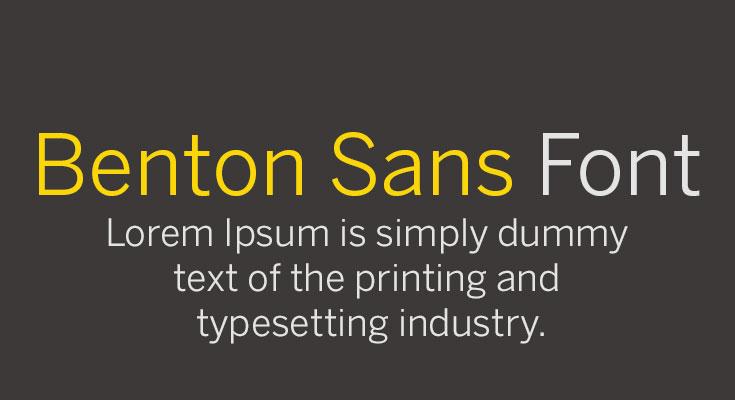 Benton Sans Font Free Download
