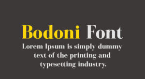 Bodoni Font Free Download [Direct Link]