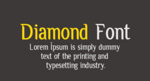 Diamond Font Free Download [Direct Link]
