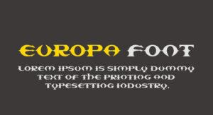 Europa Font Free Download