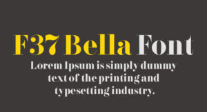 F37 Bella Font Free Download