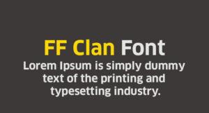 FF Clan Font Free Download