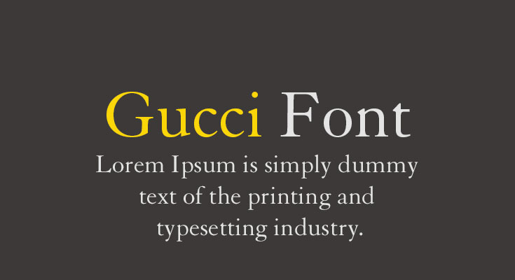 Gucci Font Free Download [Direct Link]