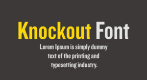 Knockout Font Free Download