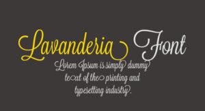 Lavanderia Font Free Download