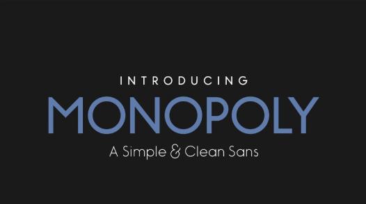 Monopoly-Typeface