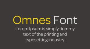 Omnes Font Free Download