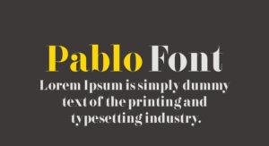 Pablo Font Free Download