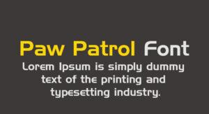 Paw Patrol Font Free Download