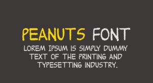 Peanuts Font Free Download