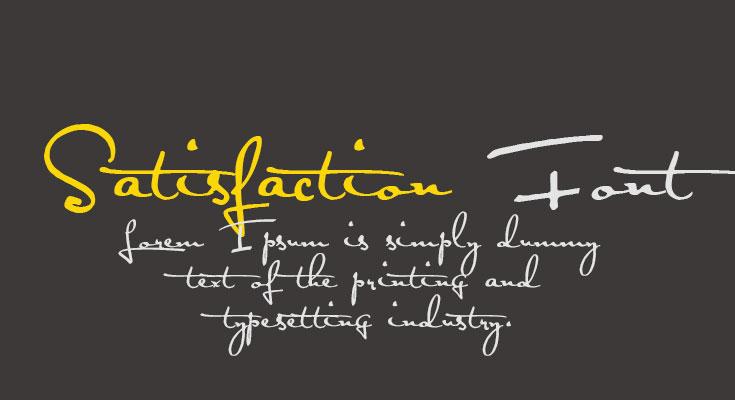 Satisfaction Font Free Download