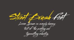 Street Brush Font Free Download