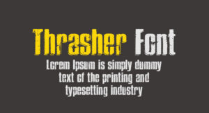Thrasher Font Free Download