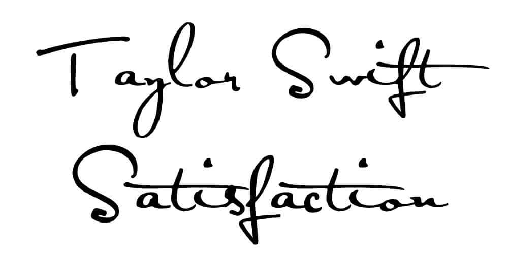satisfaction font preview